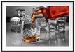 Whiskey im Whiskeyglas Passepartout 100x70