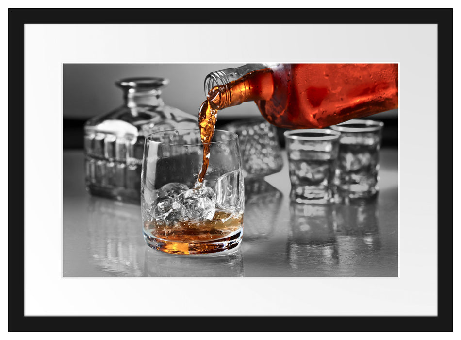 Whiskey im Whiskeyglas Passepartout 55x40