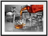 Whiskey im Whiskeyglas Passepartout 80x60