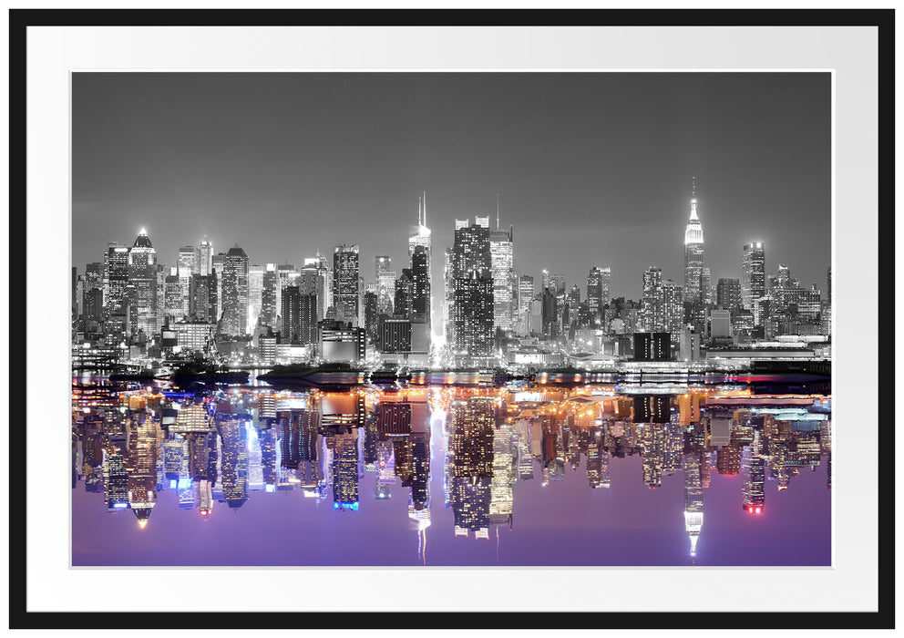 Manhattan Skyline Passepartout 100x70