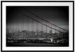 Skyline von San Francisco Passepartout 100x70