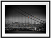 Skyline von San Francisco Passepartout 80x60