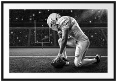 Football-Spieler Passepartout 100x70