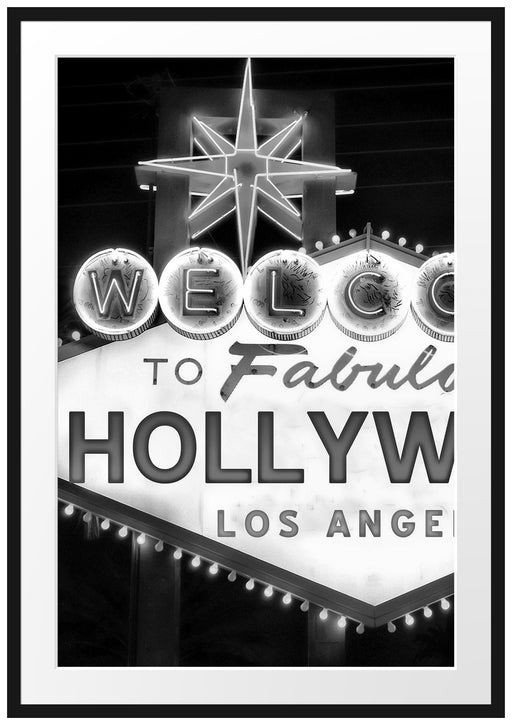 Hollywood Ortseingangsschild Passepartout 100x70