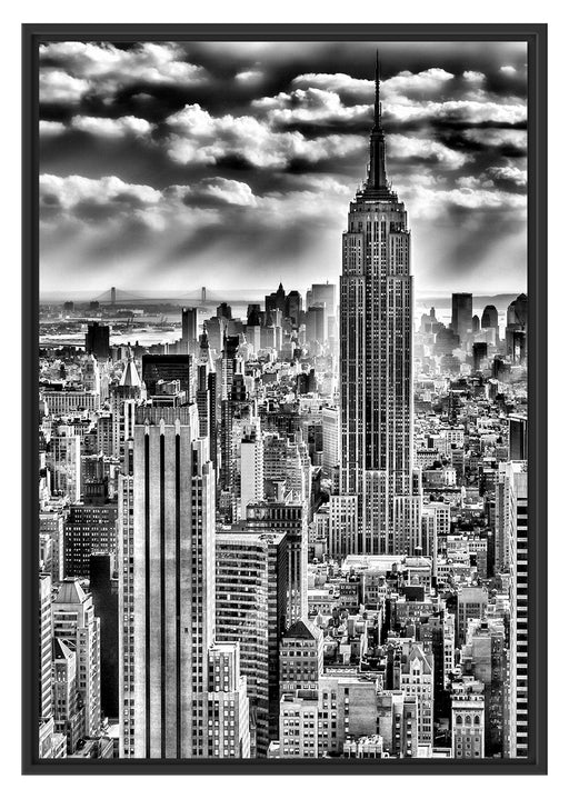 New York, Manhattan Schattenfugenrahmen 100x70