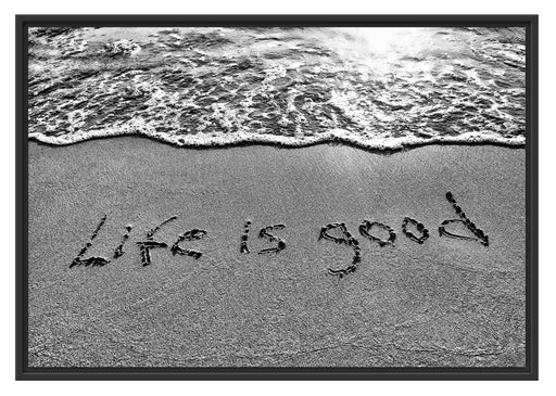 Sand Life is good Schattenfugenrahmen 100x70