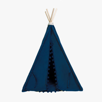 Deep Sea Bohemian Teepee - Kool Dark Blue Pet Teepee