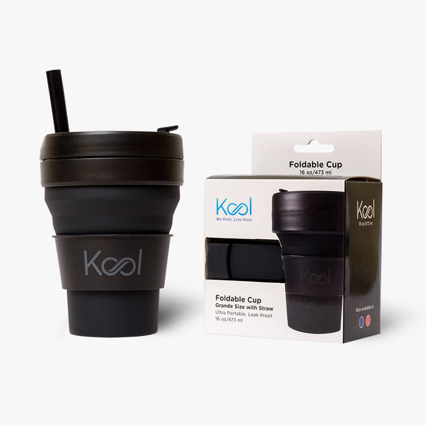 Charcoal Cup - Kool Black Foldable Cup