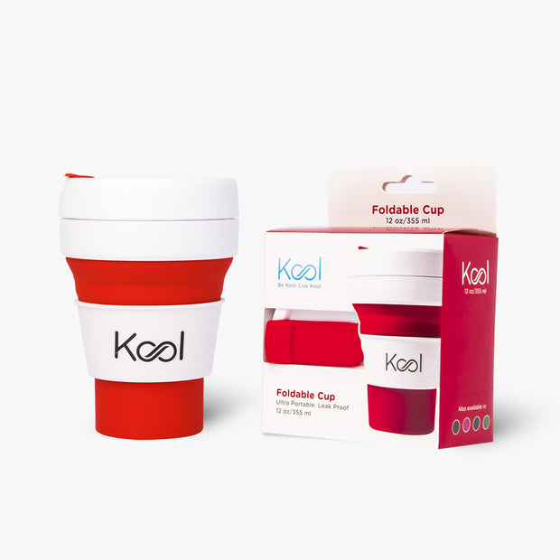 Lava Cup - Kool Red Orange Foldable Cup