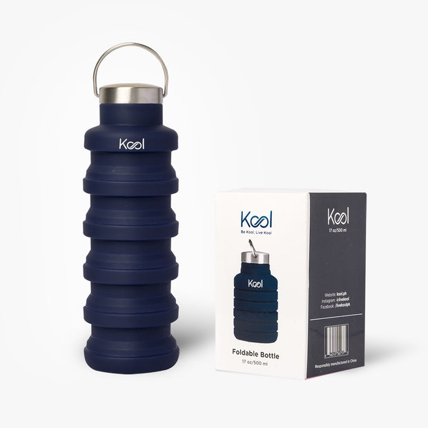 Santorini Bottle - Kool Blue Foldable Bottle