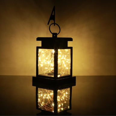 Outdoor Garden Solar Powered Hanging LED String Lights Flickering Candle Lantern Lamp For Garden Decorative 100% Solar Power