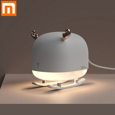 New Xiaomi Sothing Deer Air Humidifier USB Cable Powered Mini Portable Air Purifier With Ambient Night Light Ultrasonic Diffuser