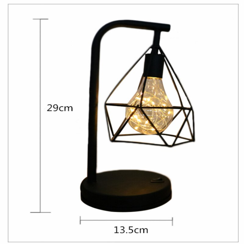 Modern LED Table Lamp USB Colorful Night Light E25 Wrought Iron Button Switch Desk Lamp Creative Home Decoration Lighting