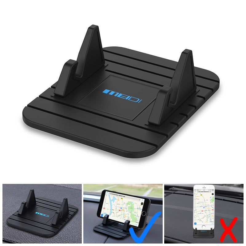 MEIDI Car Dashboard Non-slip Mat Rubber Mount Phone Holder Pad Mobile Phone Stand Bracket For Samsung Xiaomi Mobile Holder