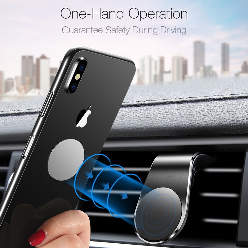 Magnetic Car Holder For Phone in Car Air Vent Mount Clip Strong Magnet Mobile Cell Smartphone Holder Auto Support GPS Navigation
