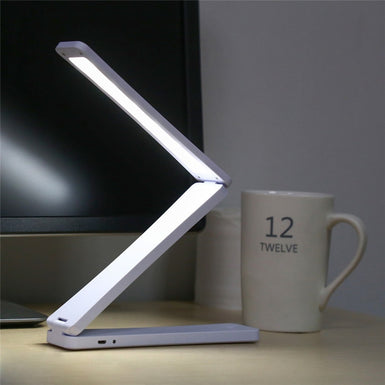 Mini 450MAh Capacity Folding Led Reading Desk Table Lamp Rechargeable Adjustable Portable Bright 17 LEDs Book Light