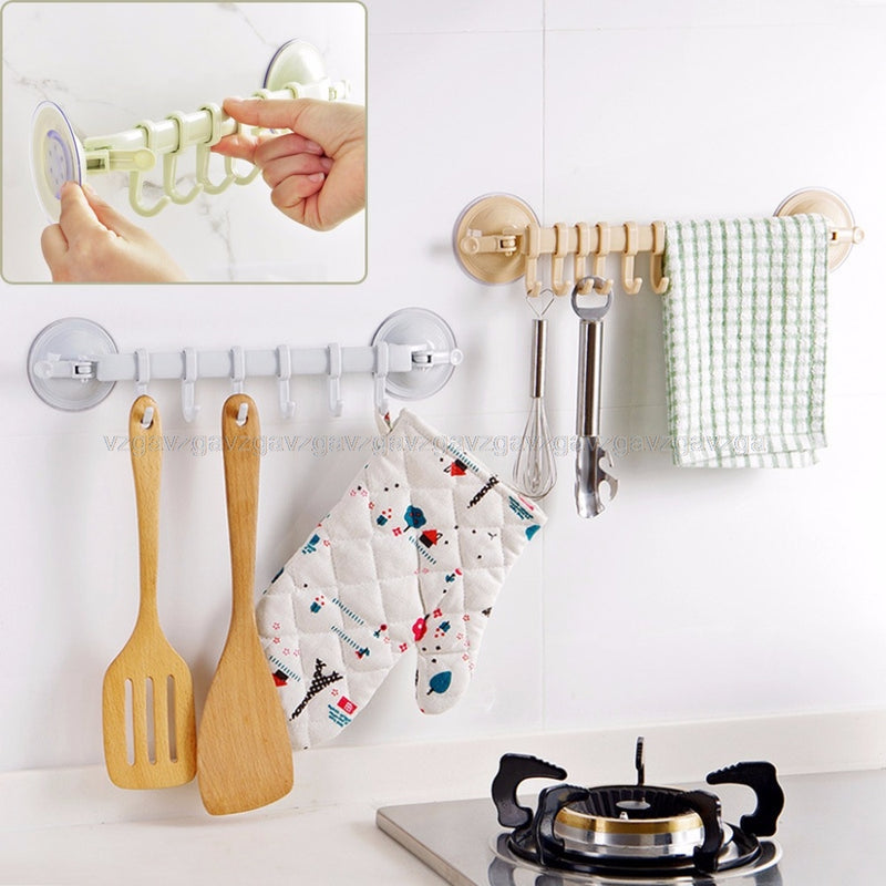 Hooks Kitchen Bathroom Plastic Wall Stand No trace Hanger Vacuum Sucker Suction Hooks JUN06 dropship