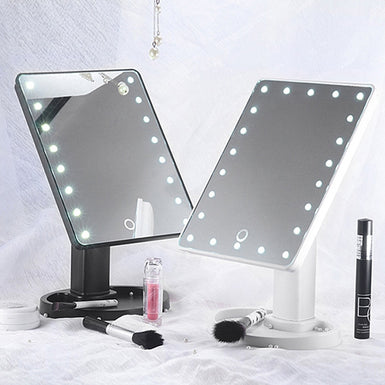 Mioor Adjustable 20/16 LEDs Lighted Makeup Mirror Touch Screen Portable Magnifying Vanity Tabletop Lamp Cosmetic Mirror Make Up