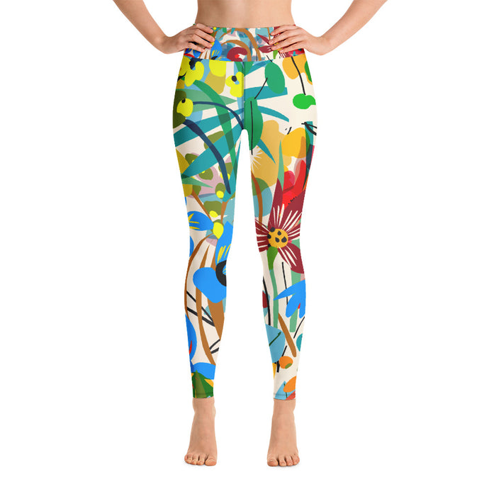 Wild Flowers Yoga Leggings