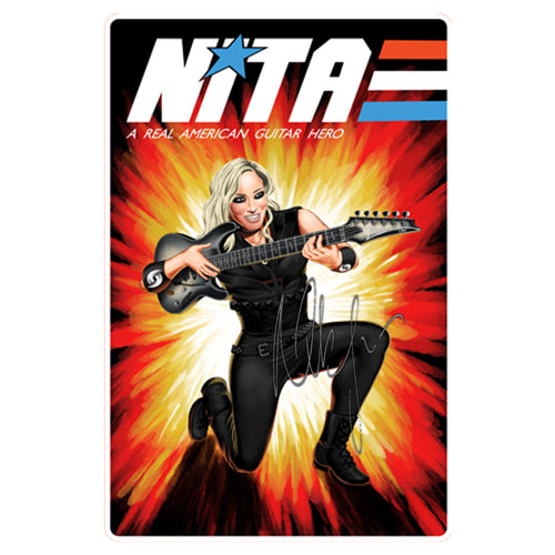 nita strauss signed 8x10 real american guitar hero