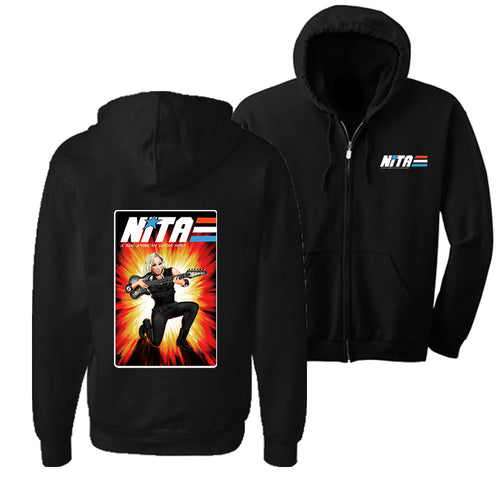 Nita Strauss Gi Joe hoodie front and back