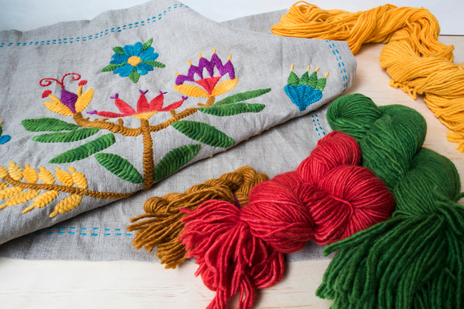 Get Started with Wool on Linen Embroidery with Kasia Jacquot