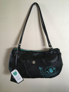 Black Half Moon Shoulder purse
