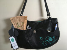 Load image into Gallery viewer, Black Half Moon Shoulder purse