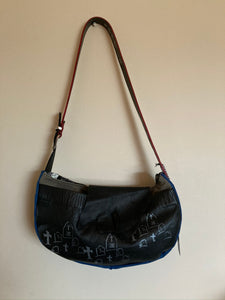 Half Moon Graveyard Shoulder Purse