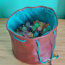 Load image into Gallery viewer, Custom Leather Dice bags