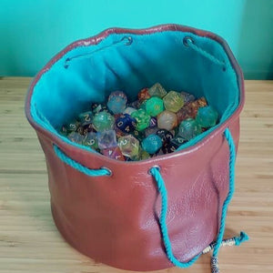 Custom Leather Dice bags