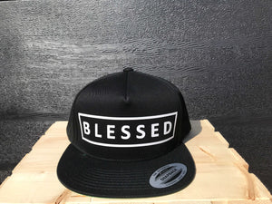 BLESSED Snapback Flat Bill Hat