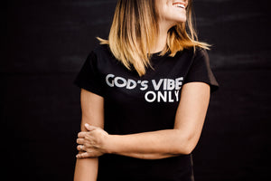 God's vibe only adult T-shirt