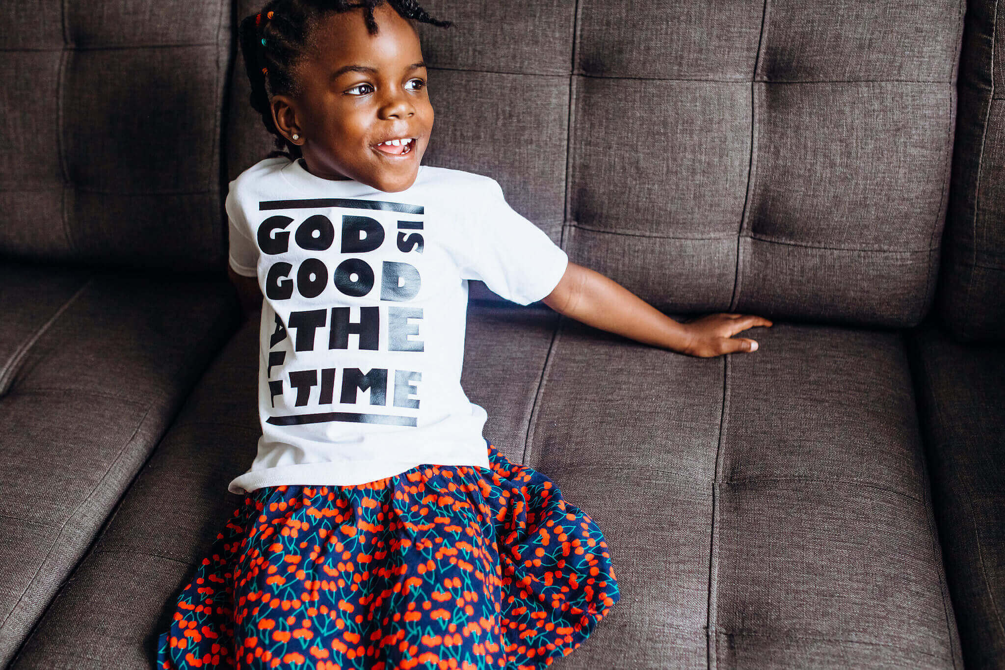 God is Good all the Time Kids T-shirt