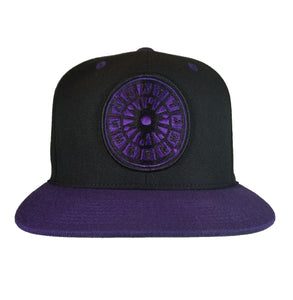Manhattan Born Snapback - Black/Purple Embroidered logo
