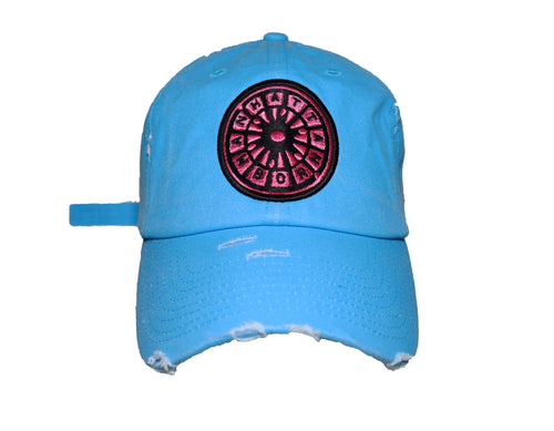 (NEON Blue) USNY distressed Dadhat