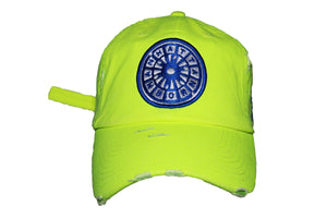 (NEON Yellow) USNY distressed Dadhat