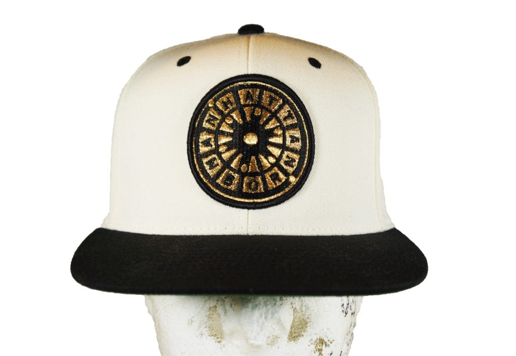 Manhattan Born Snapback -Black/M.Gold Embroidered Logo