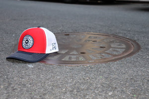 (Red/White/Blue) USNY Mesh/Twill Snapback Hat