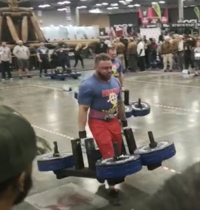 Monkey Athlete, Dale McPherson, 5th at Arnold Strongman World Championships