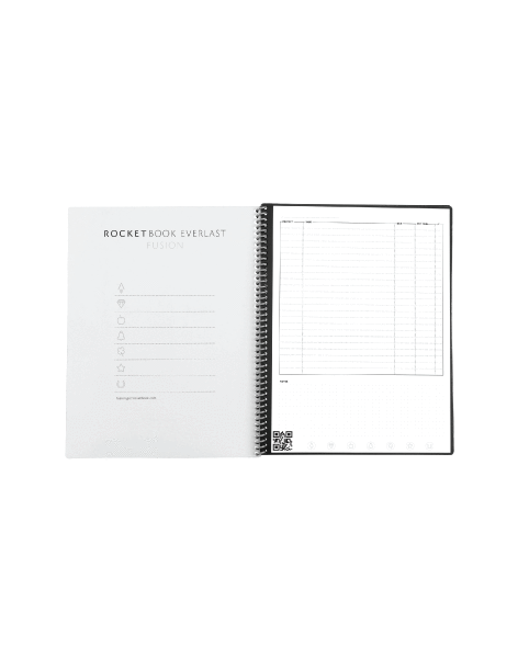 Rocketbook Fusion Smart Reusable Notebook - Calendar, To-Do Lists, and Note Template Pages