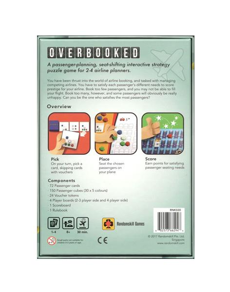 Overbooked - A passenger-planning, seat-shifting strategy puzzle game for airline planners.