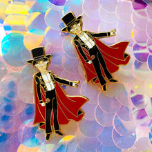 Load image into Gallery viewer, Tuxedo Mask Enamel Pin - Sailor Moon: Perfect Humans x Cult Fiction Press Collab