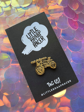 Gold Bicycle Pin