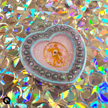 Load image into Gallery viewer, Kawaii Heart Glitter Pendants - Pin Series