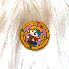 Load image into Gallery viewer, September 2020 BizBaz @ Home: Meatball Head Sticker + Pin Set!