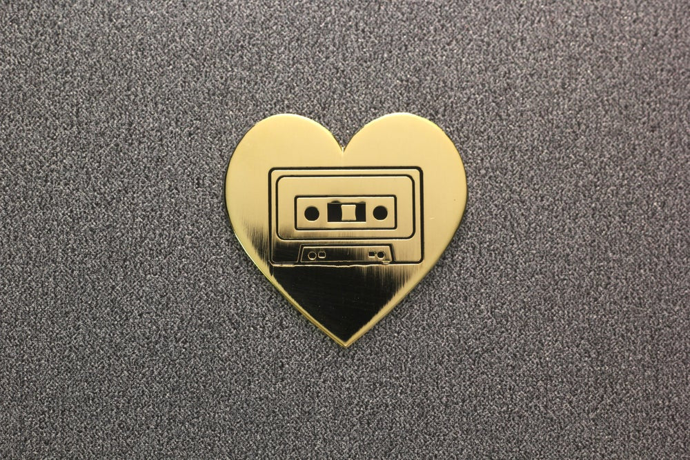 Cassette Love Hard Enamel Lapel Pin