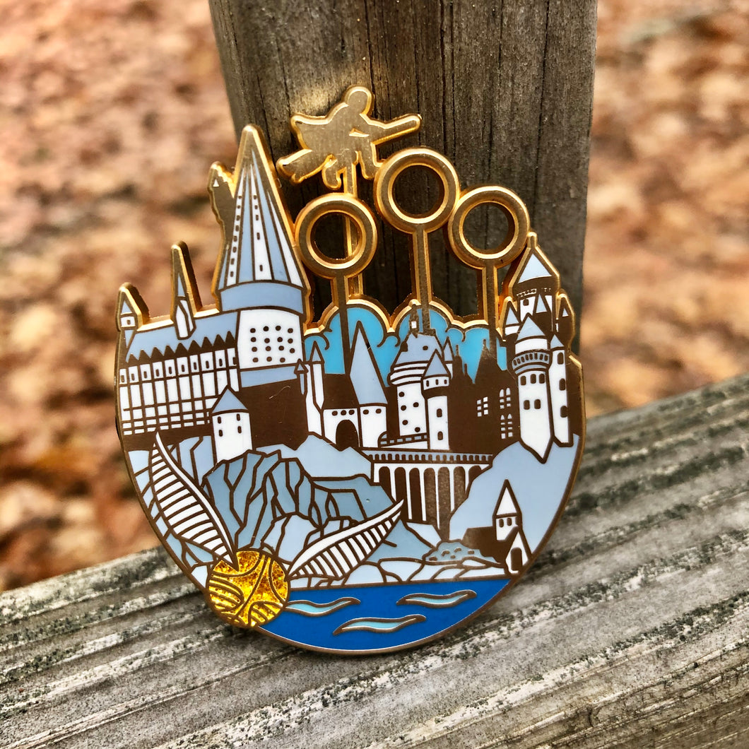 Moving Quidditch pin