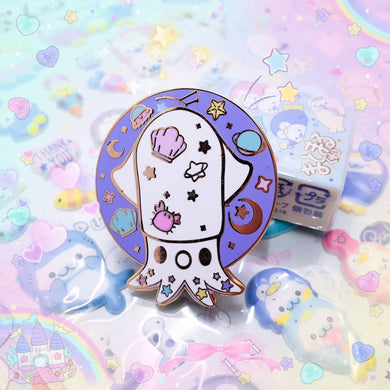 Galaxy Squid Enamel Pin