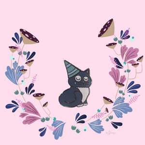 KITTY PITY PARTY PIN
